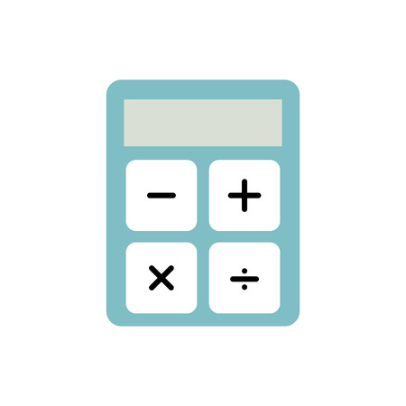Business calculator financial economy office vector illustration Illustration