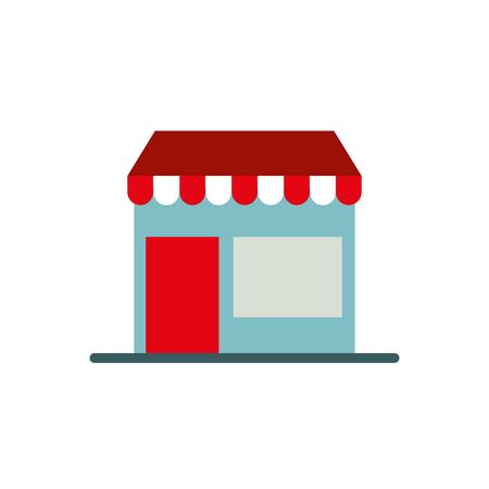 Ilustración de vector de símbolo de botón digital de tienda de comercio electrónico en línea