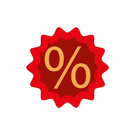 Discount percent sale offer price marketing badge vector illustration