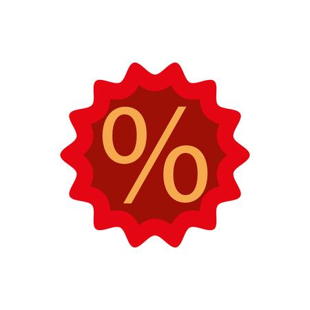 Korting procent verkoop aanbieding prijs marketing badge vectorillustratie Stock Illustratie