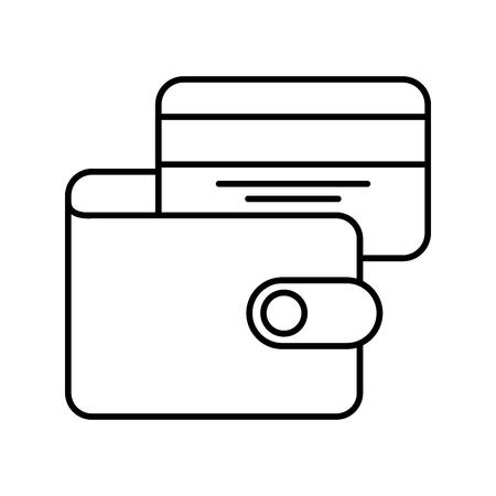 e commerce wallet credit card bank business vector illustration 向量圖像