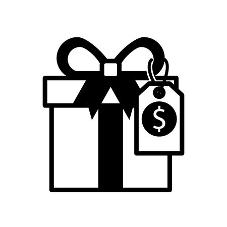 shopping big gift box discount offer online vector illustration Stock Vector - 88975701