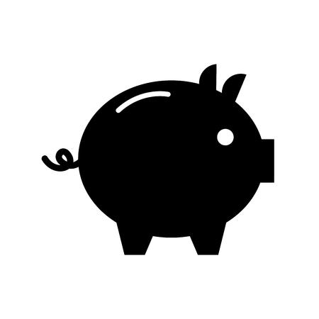 Piggy bank safety money investment commerce vector illustration