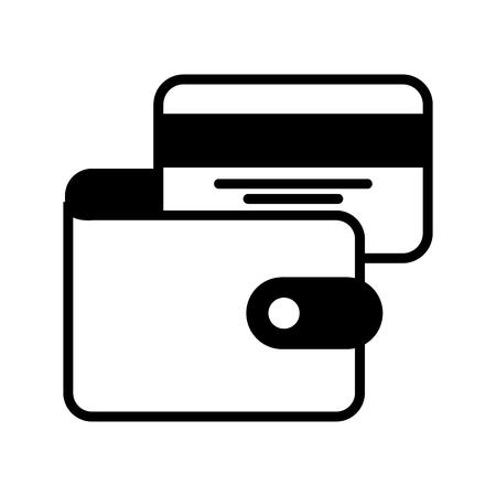 e コマース ウォレット クレジット カード銀行ビジネス ベクトル図