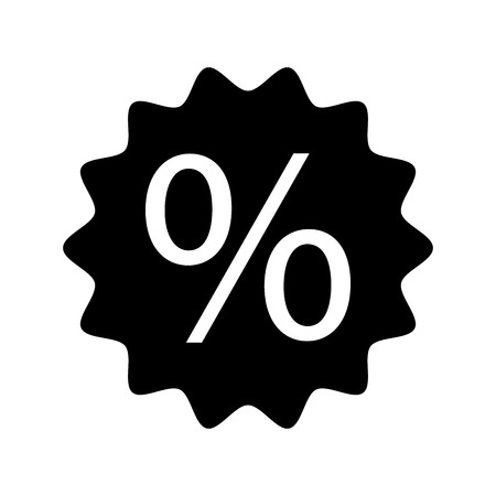 discount percent sale offer price marketing badge vector illustration Çizim