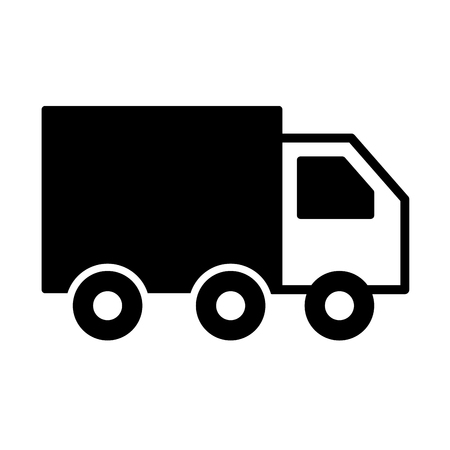 truck delivery logistic transport cargo vector illustration
