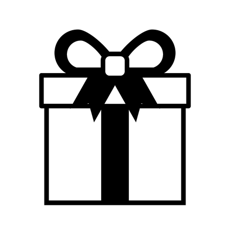 shopping gift box online button icon vector illustration