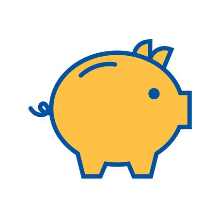 spaarvarken veiligheid geld investeringen handel vectorillustratie