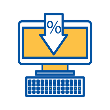 computer business commerce online percent discount concept