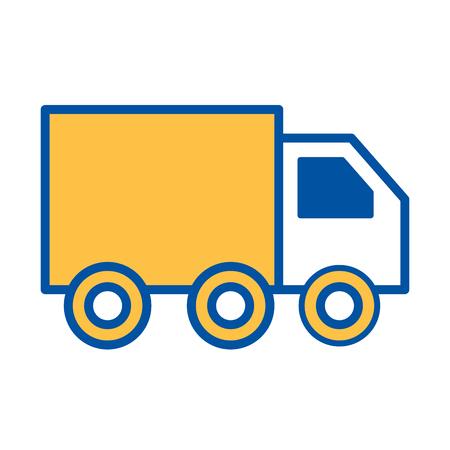 vrachtwagen levering logistieke transport vracht vectorillustratie