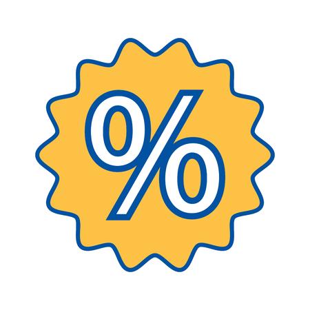 パーセントの割引販売価格マーケティング バッジ ベクトル図を提供します。
