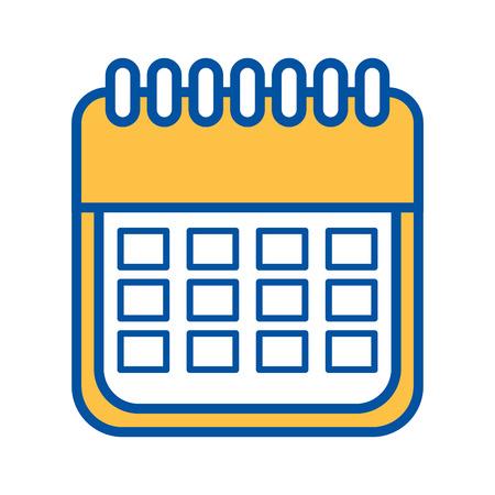 販売カレンダー日付ページ e コマース ビジネス プラン ベクトル図