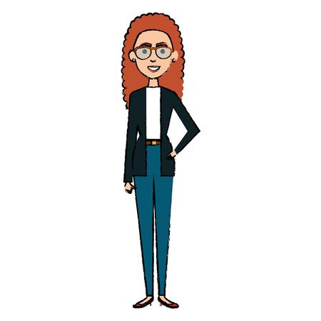 beautiful business woman avatar character vector illustration design Ilustração