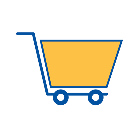 shopping cart marketing ecommerce business online vector illustration