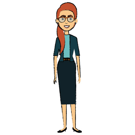 beautiful businesswoman avatar character vector illustration design