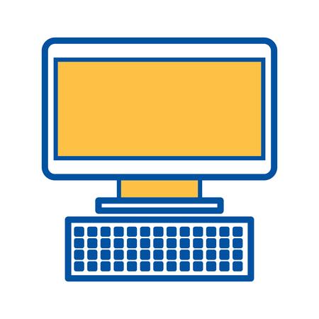 computer keyboard device technology digital vector illustration