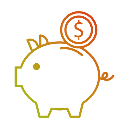 piggy bank money coin saving and investing concept vector illustration Reklamní fotografie - 88979334