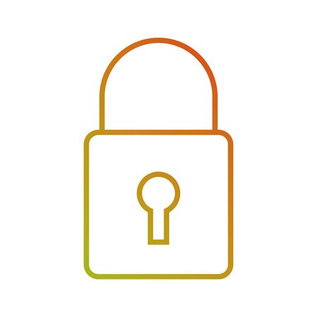 security technology data online information protection vector illustration Çizim