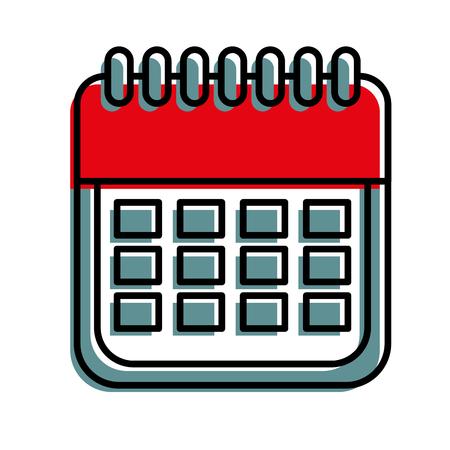 sale calendar date page ecommerce business plan vector illustration Illustration