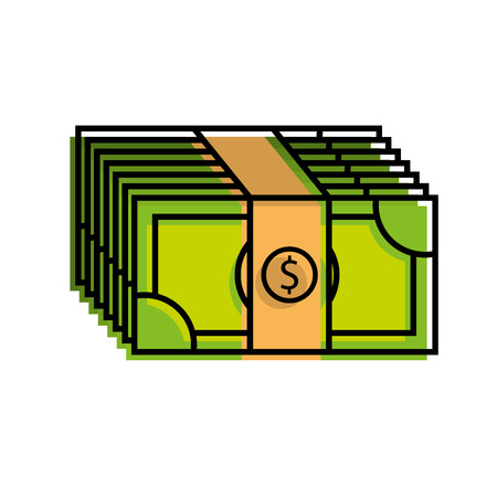 stacked banknote money dollar investment business vector illustration