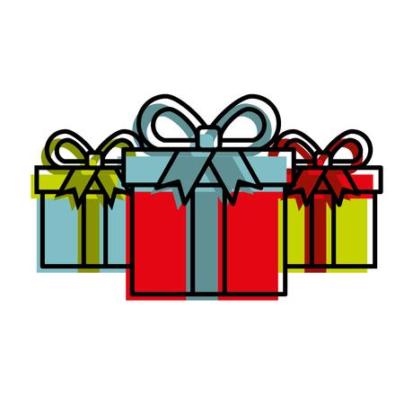 online shopping commerce marketing gift boxes concept vector illustration