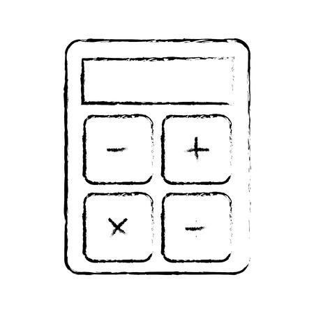 business calculator financial economy office vector illustration