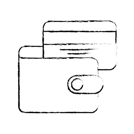 e commerce wallet credit card bank business vector illustration Ilustração