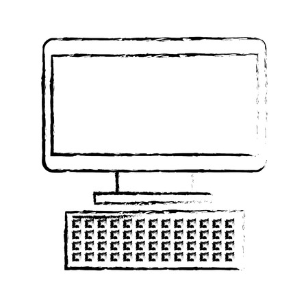 computer keyboard device technology digital vector illustration