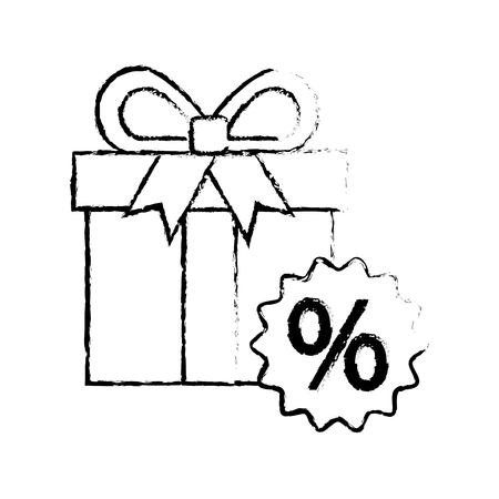 shopping big gift box discount offer online vector illustration Stock Vector - 88979633
