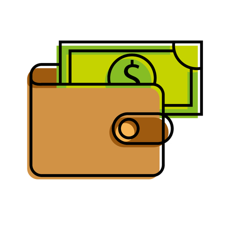 banking wallet banknote money safe cash vector illustration Illustration