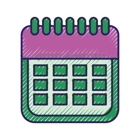 판매 달력 날짜 페이지 전자 상거래 비즈니스 계획 벡터 일러스트 레이션