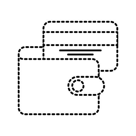e commerce wallet credit card bank business vector illustration Illustration