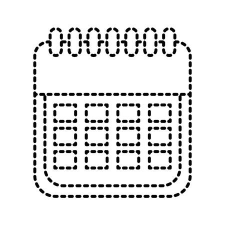 sale calendar date page ecommerce business plan vector illustration Ilustração