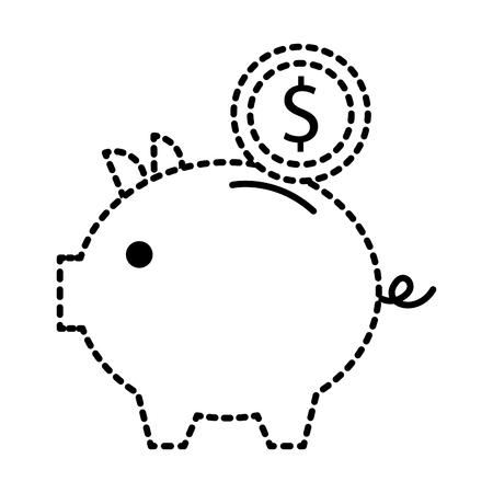 piggy bank money coin saving and investing concept Stok Fotoğraf - 88985483