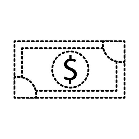 dollar geld bankbiljetten geld winkelen pictogram vectorillustratie Stock Illustratie