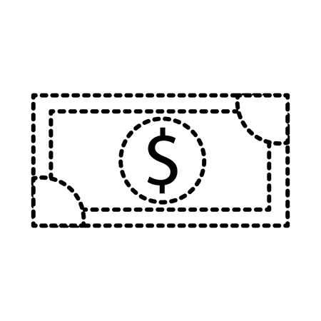 dollar money banknote cash shopping icon vector illustration Иллюстрация