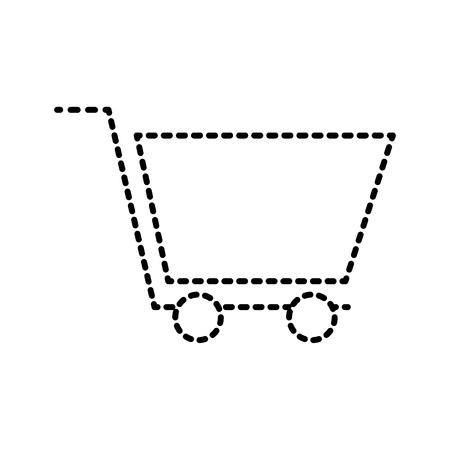 shopping cart marketing ecommerce business online vector illustration