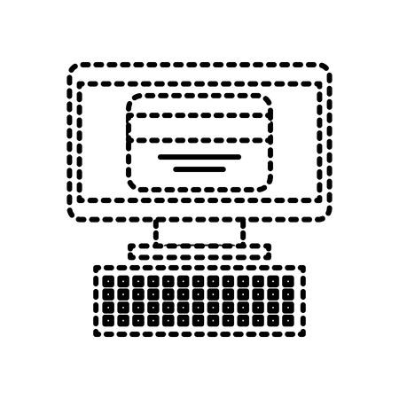 온라인 컴퓨터 신용 카드 개념 벡터 일러스트 구매