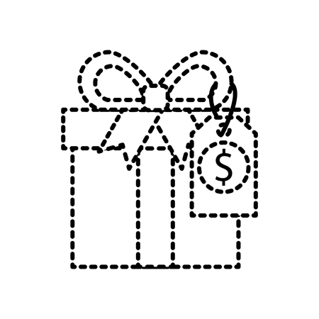 shopping big gift box discount offer online vector illustration Stock Vector - 88986324