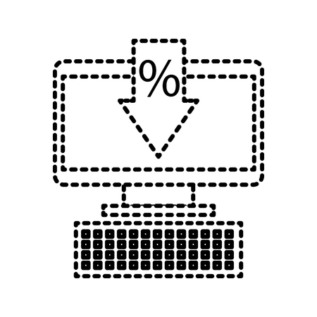 computer business commerce online percent discount concept vector illustration