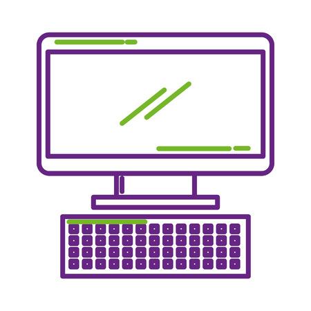 컴퓨터 키보드 장치 기술 디지털 벡터 일러스트 레이션