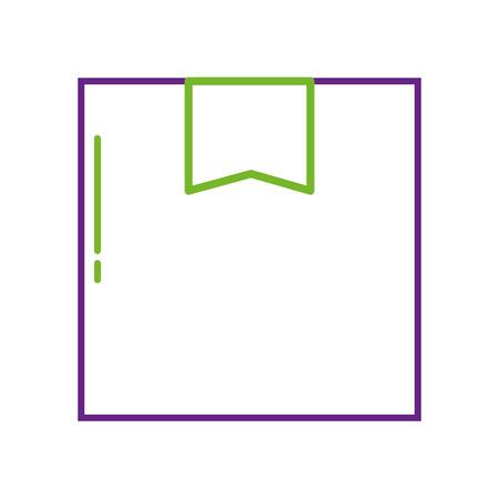 levering kartonnen doos vracht service online vectorillustratie Stock Illustratie