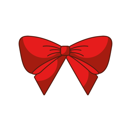 red bow christmas decoration ornament vector illustration Illustration