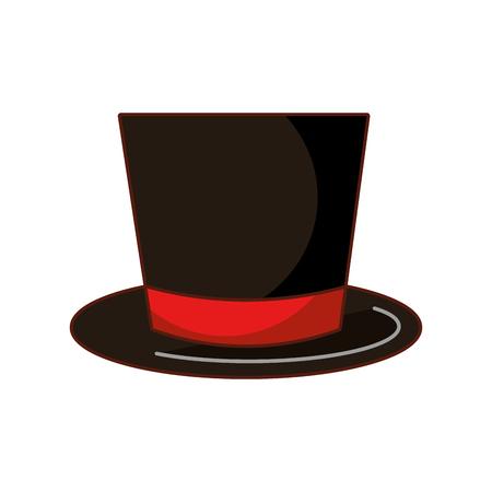 christmas top hat decoration cloth vector illustration