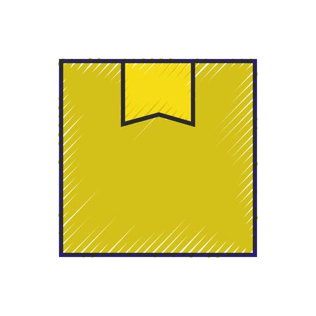 delivery cardboard box cargo service online vector illustration Çizim