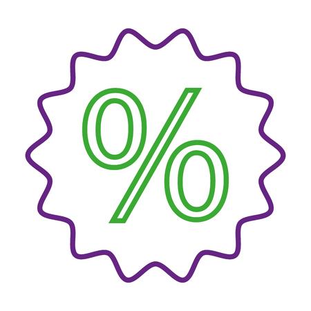 kortingspercentage verkoopprijs marketingbadge Stock Illustratie