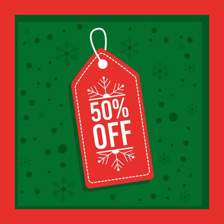 christmas sale special season commerce label vector illustration Stock Vector - 88986623