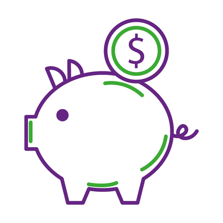 piggy bank money coin saving and investing concept