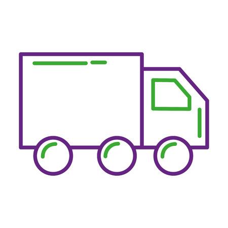 Illustration vectorielle de camion livraison logistique transport fret Banque d'images - 88986665