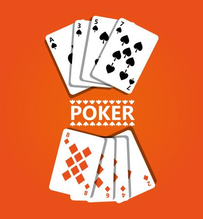포커 디자인 카드 및 게임 개념 카지노 벡터 일러스트 레이 션 일러스트
